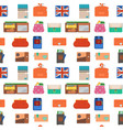 purse wallet with money seamless pattern vector image vector image