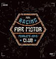 racing club badge vector image vector image