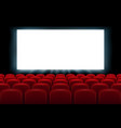 realistic cinema hall interior with red seats vector image vector image