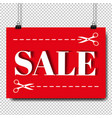 sale banner and text transparent background vector image vector image