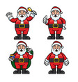 santa set cartoon vector image vector image