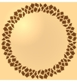 Seamless giraffe fur frame vector image vector image