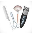 Set hairdressing tools vector image vector image