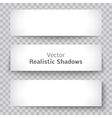 Set of blank banner sheet paper with shadow vector image vector image