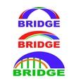 Set of Bridge Icons Isolated Bridge Logo vector image