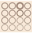 Set of Round Pattern Frames vector image