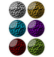 set of spheres with swirly pattern decoration in vector image vector image