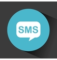 sms speech bubble vector image