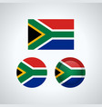 south african trio flags vector image