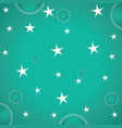 stars and circles on green background vector image vector image