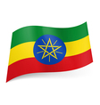 State flag of Ethiopia vector image vector image