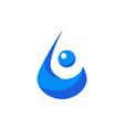 stylish water drop vector image