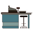 supermarket paypoint with cash register in vector image vector image