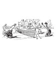 tennis vintage vector image vector image