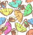 Umbrella Hat Tie vector image vector image