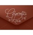 Valentines envelope chocolate vector image