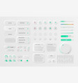 Very high detailed white user interface pack