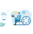 video editing concept vector image vector image