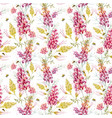 watercolor grevillea pattern vector image vector image