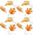 watercolor maple leaves seamless pattern vector image vector image