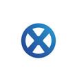 x letter logo template icon design vector image vector image
