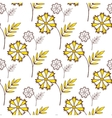 Yellow Flowers On White vector image vector image