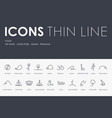 yoga thin line icons vector image vector image
