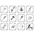 Worker icons vector image