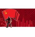 Flag Bearer USSR Background vector image
