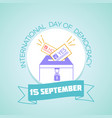 15 september international day of democracy vector image
