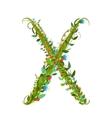 Alphabet letter X elegant flower blooming vector image vector image
