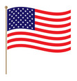 american national flag waving vector image