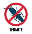 anti-termite red and blue icon on vector image vector image