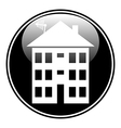 Apartment house button vector image vector image