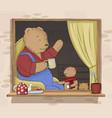 bears family vector image