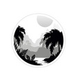 beautiful tropical scenery with trees mountains vector image vector image