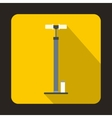 Bicycle pump icon flat style vector image vector image