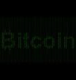 binary code blockchain technology algorithm vector image vector image