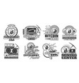 bitcoin cryptocurrency mining icons vector image