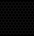 black hexagon geometric pattern vector image