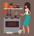 breakfast coffee vector image