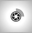 broadcast camera icon vector image