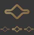 Bronze line abstract logo design set vector image vector image