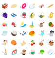 cake icons set isometric style vector image vector image