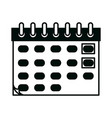 calendar reminder date time linear style icon vector image vector image