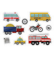 cartoon kids car toys icons vector image