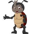 cartoon rhinoceros beetle waving hand vector image