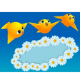 Chamomiles and canaries vector | Price: 3 Credits (USD $3)