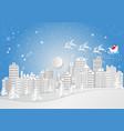 city for christmas season with snowflake and vector image vector image