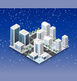 city winter landscape vector image vector image